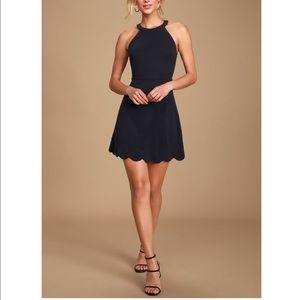 Lulus Mamacita Black Halter Skater Dress